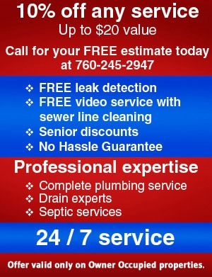 Roto-Rooter Plumbing and Drain Service Repair Special Offers Victorville Lancaster CA